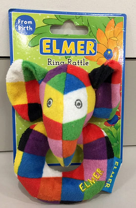 Elmer Ring Rattle Toy