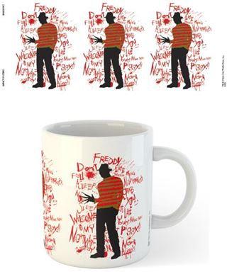 Nightmare on Elm Street Text Mug