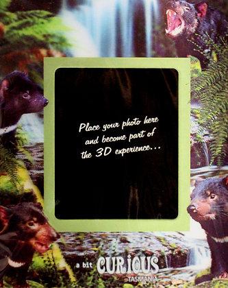 A Bit Curious Tasmanian Devil 3D Photo Frame Magnet