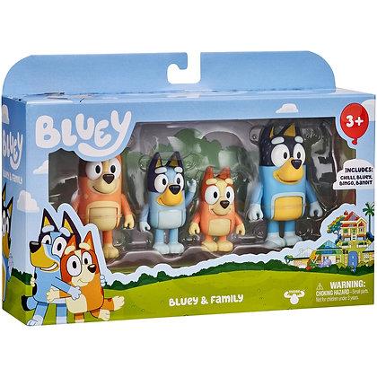 Bluey Plastic Figurine Set