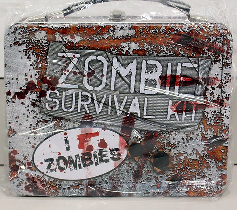 Zombie Survival Tin Lunchbox
