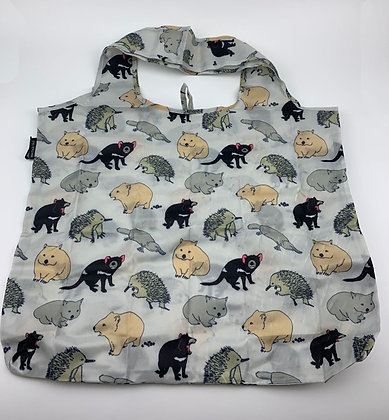 Heritage Isle Tasmanian Animals Fold up Bag