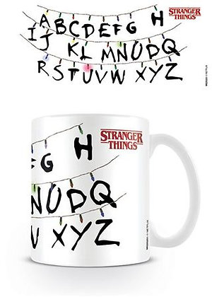 Stranger Things Alphabet Mug