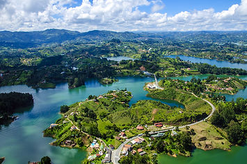 Panoramic view from Rock of Guatape in