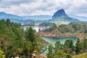 View of The Rock near the town of Guatap