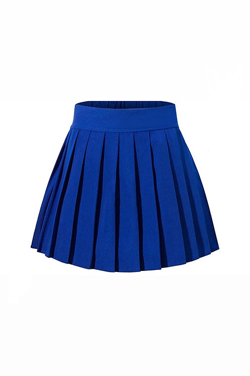 College Girl Skirt -Royal Blue