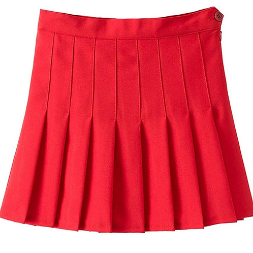 College Girl Skirt -Red