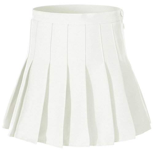 College Girl Skirt -White
