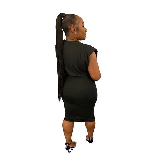 Melanie Set (Black- Plus Size)