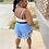 Thumbnail: Hot Summa ( Light Denim Fringe Shorts)