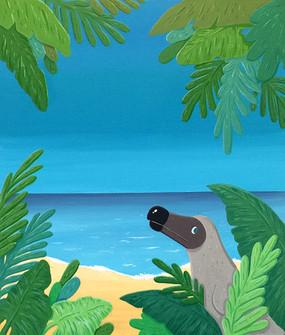 Dodo wonderer, 53x45cm, gouache on canva