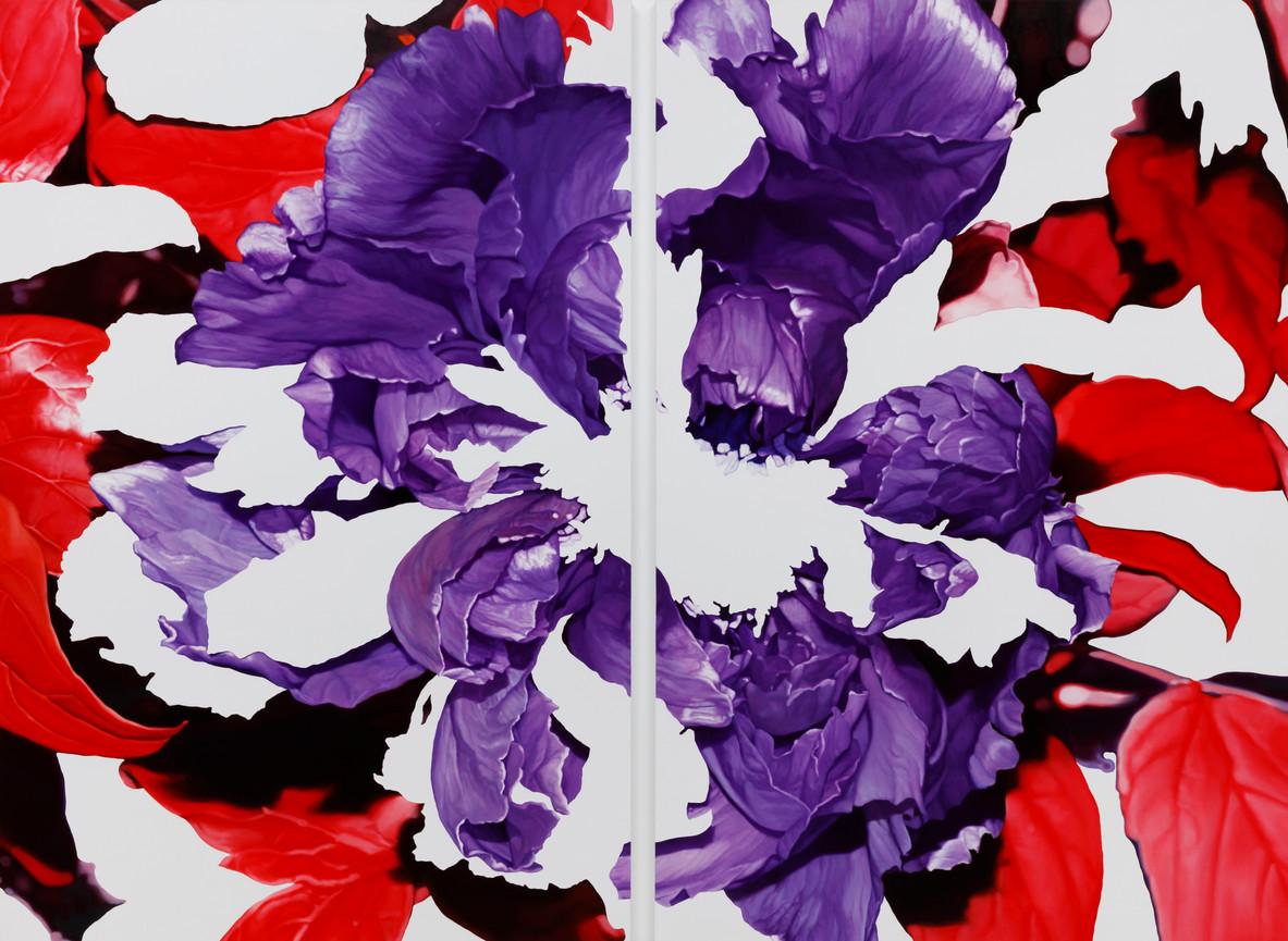 88peony, oil on canvas, 194x260cm(각 194x