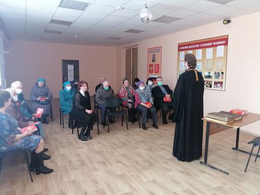 Встреча с о. Владимиром в Песоченской библиотеке