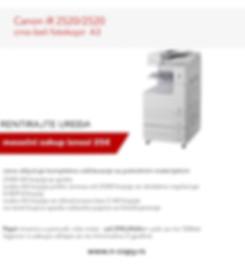 Copier, Canon iR 2520