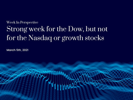 Week In Perspective: Strong week for the Dow, but not for the Nasdaq or growth stocks [5-March-21]