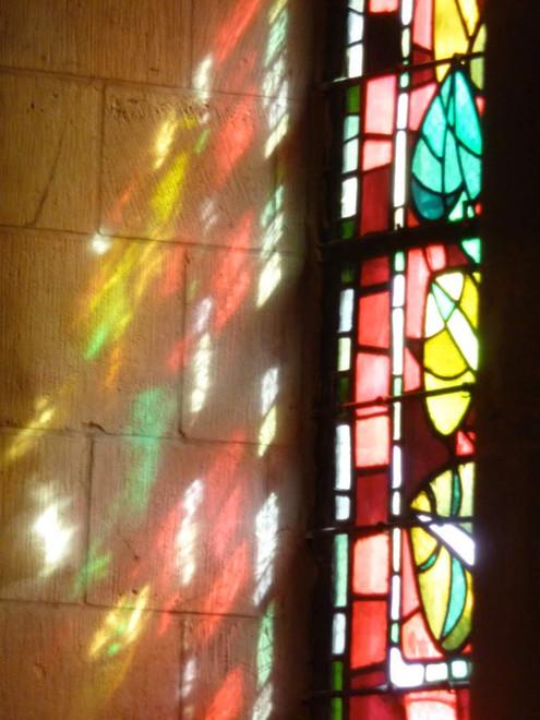 Lumière en vitrail