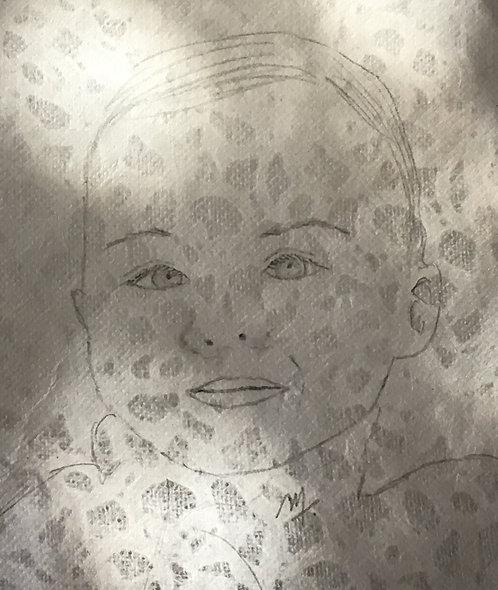 Portrait dentelle personnalisé