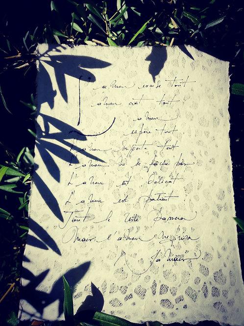 L'amour - Psaume Saint Paul