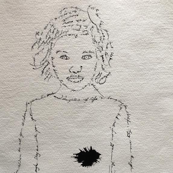 portrait_calligraphié_poème_Khalil_Gibra