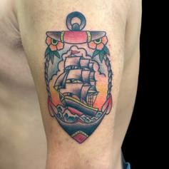 船 錨 トラディショナル タトゥー