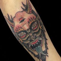 悪魔 トラディショナル タトゥー