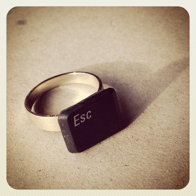 Instagram - Today's creation #escape #nerd #ring
