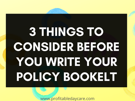 Your policy booklet what to know before you begin writing it
