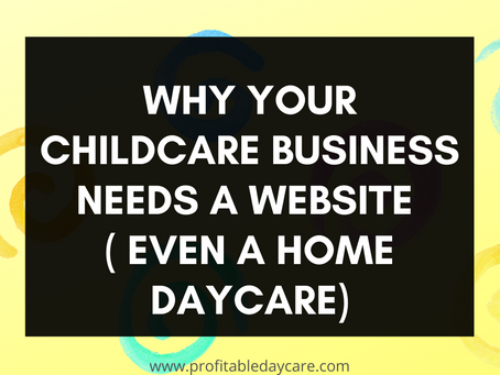 Why your childcare business needs a website.