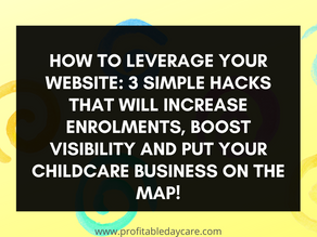 How to leverage your website: 3 simple hacks that will increase enrollment and boost visibility.