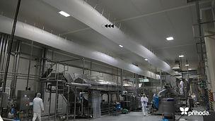 식품가공장 천덕트 패브릭덕트 섬유덕트 에이디산업