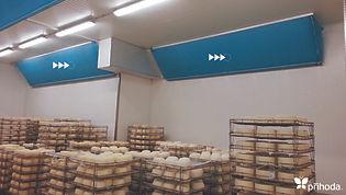 치즈숙성실 천덕트 패브릭덕트 섬유덕트 에이디산업