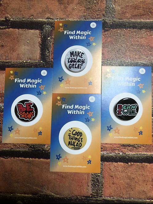 Set of 4 Empowerment Badges