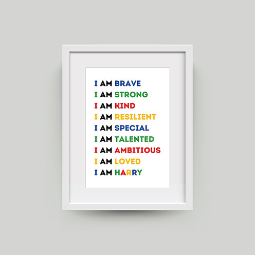 Personalised A4 Bright Affirmation Print