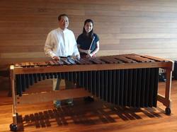 Mr.Banthoon Lamsam and his marimba