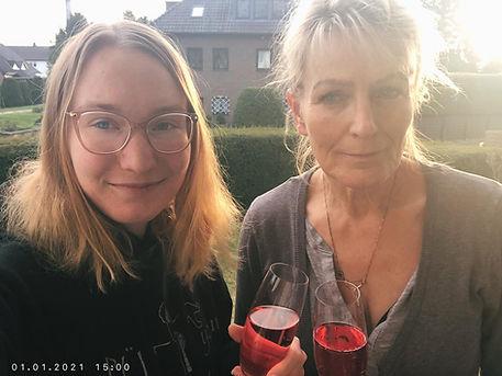 Janina Abteilung Turnen und ihre Mutter