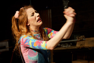 Charlie Vaughan in Godspell, Stratford Musical Theatre Company, RSC The Other Place, David Fawbert Photography