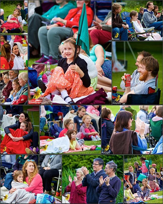The audience enjoying Heartbreak Productions' The Railway Children, Jephson Gardens, Leamington Spa