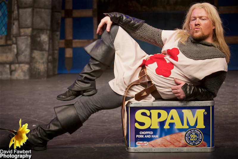 Thom Stafford as Sir Galahad in Peterbrook Players' Spamalot, at The Core Theatre, Solihull, David Fawbert Photography