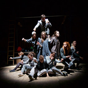The cast of Godspell, Stratford Musical Theatre Company, RSC The Other Place, David Fawbert Photography