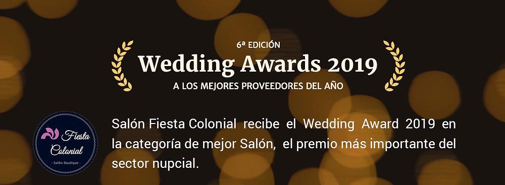 Salón Fiesta Colonial gana en la categoría de mejor Salón