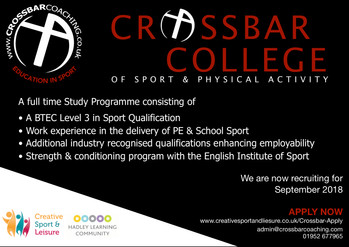 Join The Crossbar College of Sport
