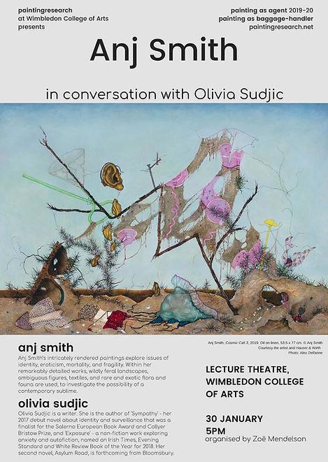 Anj Smith - Olivia Sudjic 30 Jan poster