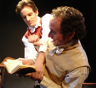Matthew Waterson as William Wordsworth and Brent Barnes as Samuel Coleridge in Grasmere. Written by Kristina Leach. Directed by Noel Neeb.