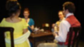 Maria Pallas as Mary Hutchinson, Rachel McKinney as Dorothy Wordsworth, Brent Barnes as Samuel Coleridge, Matthew Waterson as William Wordsworth in Grasmere. Written by Kristina Leach. Directed by Noel Neeb.