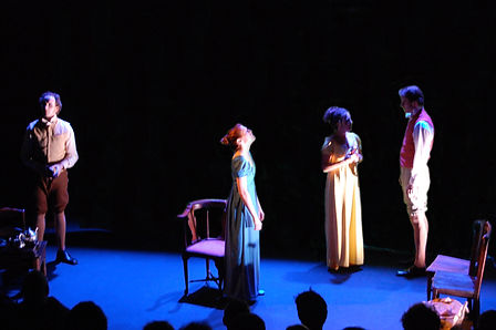 Brent Barnes as Samuel Coleridge, Rachel McKinney as Dorothy Wordsworth, Maria Pallas as Mary Hutchinson, and Matthew Waterson as William Wordsworth in Grasmere. Written by Kristina Leach. Directed by Noel Neeb.