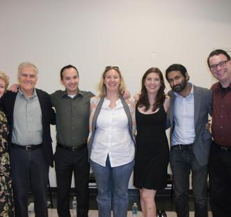 RoaN Productions' Reading Series. Play: The Medea Project. Playwright: Kristina Leach. Cast & Director: Laurie Birmingham, Larry Loonin, Eric Chase, Noel Neeb, Rachel McKinney, Samrat Chakrabarti, Rob Gorden