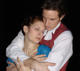 Matthew Waterson as William Wordsworth and Rachel McKinney as Dorothy Wordsworth in Grasmere. Written by Kristina Leach. Directed by Noel Neeb.