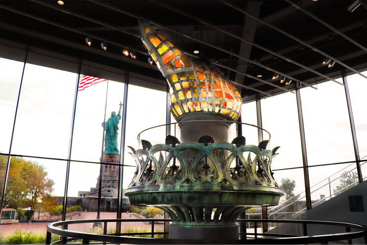 Statue of Liberty torch in Museum