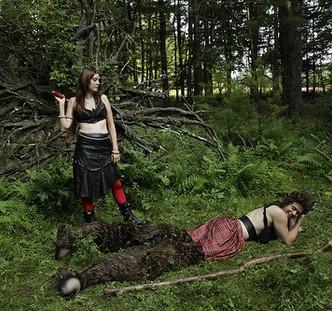 Heroes and Monsters. Cast: Rachel McKinney & Ben Leasure.