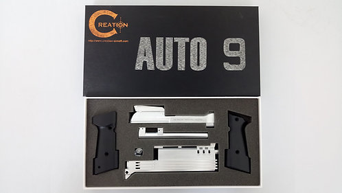 Creation M93R Auto 9 Conversion Kit for KSC M93R-II System 7 Ver (Chrome)